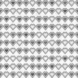 Hart naadloos kleurloos patroon op witte achtergrond Royalty-vrije Stock Afbeelding