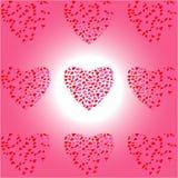 Hart negen van Harten op wit-roze achtergrond Royalty-vrije Stock Fotografie