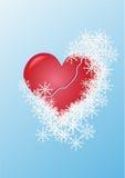 Hart onder sneeuw Royalty-vrije Stock Foto's
