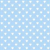 Hart op blauwe roze textuur, vector stock illustratie