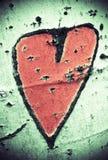 Hart op een schors Stock Afbeelding