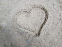 Hart op het zand Stock Fotografie