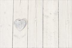Hart op hout Stock Foto
