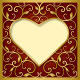 Hart op rode achtergrond Royalty-vrije Stock Afbeeldingen