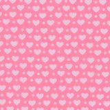 Hart op roze achtergrond, Zoet patroon als achtergrond Stock Fotografie