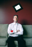 Hart op zijn koker Royalty-vrije Stock Foto's