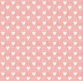 Hart op zoete roze textuur, vector Royalty-vrije Stock Afbeelding