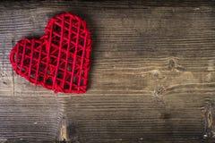 Hart over hout Het concept van de liefde Royalty-vrije Stock Afbeeldingen