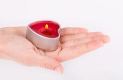 Hart in palm Royalty-vrije Stock Afbeeldingen
