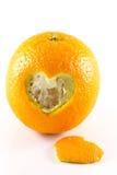 Hart Peel apelsin Arkivfoto