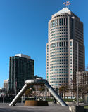 Hart Plaza Detroit Michigan Imagem de Stock