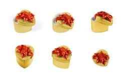 Hart presents_gold Royalty-vrije Stock Fotografie