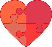 Hart in puzzle - love illustration Stock Image