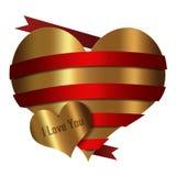 Hart Rode Gouden inzameling Stock Foto