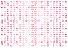 Hart, roze abstracte vectorillustratie als achtergrond, Valentijnskaartenconcept stock illustratie