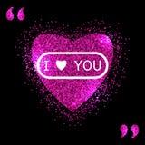 Hart roze vector, Valentijnskaartendag, liefde royalty-vrije illustratie