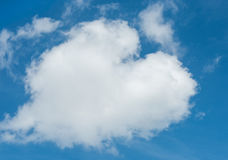 Hart shaped cloud Stock Photography