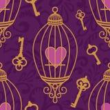 Hart-sleutel-patroon Royalty-vrije Stock Afbeelding