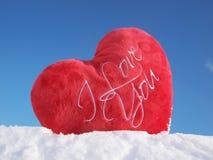 hart in sneeuw Royalty-vrije Stock Afbeelding