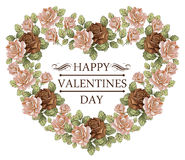 Hart tegen Valentijnskaartendag. Kaart. Stock Afbeeldingen