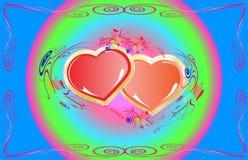 Hart, vakantie en liefde royalty-vrije illustratie