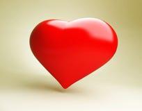 Hart, valentijnskaart Stock Afbeelding