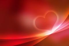 Hart - valentijnskaart Stock Afbeelding