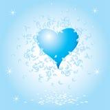 Hart, valentijnskaart grunge backgr Stock Afbeelding