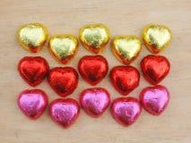 Hart, Valentine-achtergrond Royalty-vrije Stock Fotografie