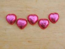 Hart, Valentine-achtergrond Stock Afbeelding
