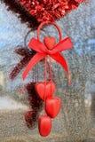 Hart Valentine Decoration Royalty-vrije Stock Afbeelding