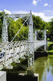 In The Hart of Valley City. A beautiful Bridge on the collage campus in Valley City, North Dakota royalty free stock photo