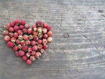 Hart van aardbeien Royalty-vrije Stock Afbeeldingen