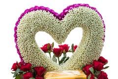 Hart van bloem wordt gemaakt die Royalty-vrije Stock Afbeelding
