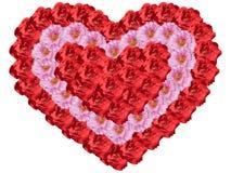 Hart van bloemen Royalty-vrije Stock Foto