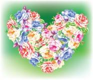 Hart van bloemen Stock Foto