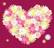 Hart van bloemen. Royalty-vrije Stock Afbeelding
