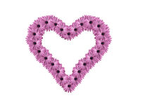 Hart van bloemen Stock Afbeeldingen