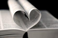 Hart van boekpagina's Stock Foto