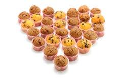 Hart van Cupcakes Stock Fotografie