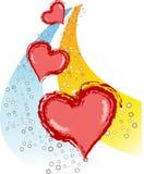 Hart van de valentijnskaart grunge 2 vrs8 Stock Afbeelding