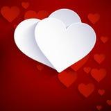 Hart van document Valentijnskaartendag. EPS 10 Stock Fotografie