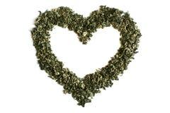 Hart van groene thee Royalty-vrije Stock Foto's