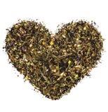 Hart van groene thee Stock Fotografie
