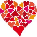 Hart van harten stock illustratie