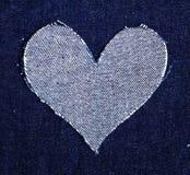 Hart van jeans Stock Fotografie