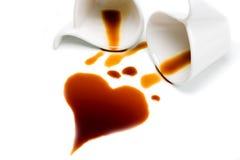 Hart van koffie Stock Afbeelding