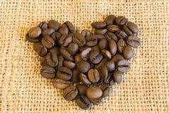 hart van koffie Royalty-vrije Stock Fotografie