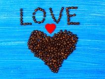 Hart van koffie Stock Foto