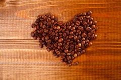 Hart van koffiebonen Royalty-vrije Stock Afbeelding